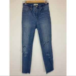 Madewell Distressed Skinny Jeans size 26